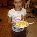 Rosalie met haar 'Homemade' wafel