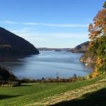 Uitkijk op rivier de Hudson